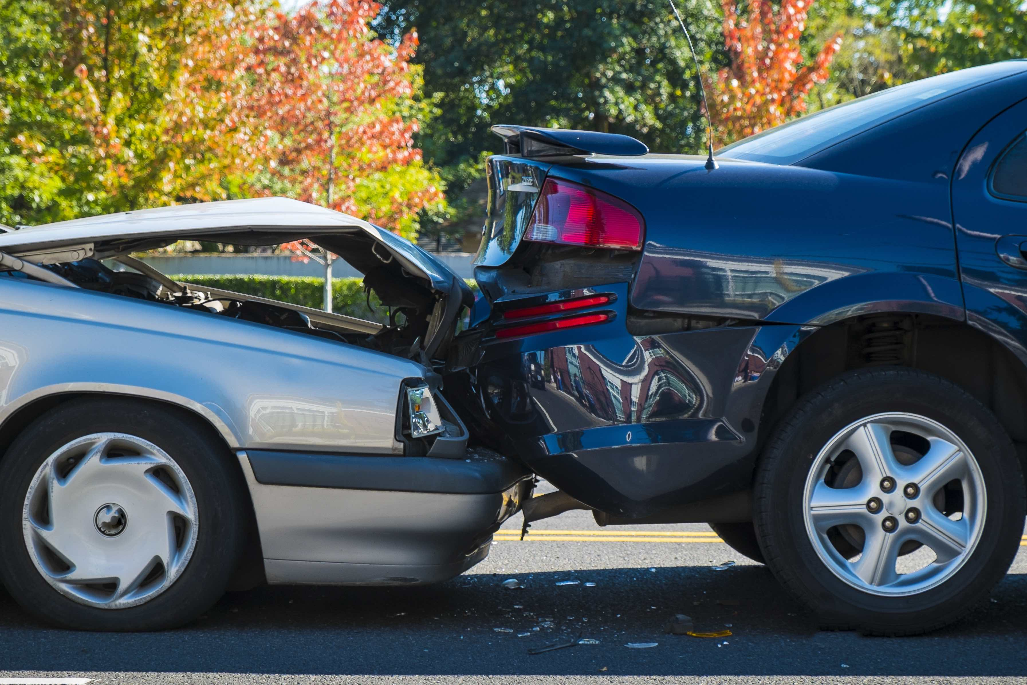 Image of car accident requiring car insurance